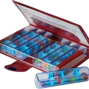 pilulier ouvert, semainier, médicaments, boite à pilule, traitement médical