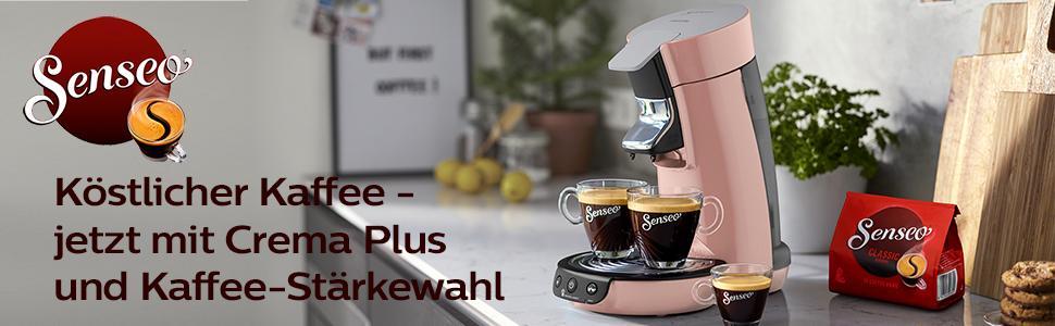 philips senseo viva caf hd6563 30 kaffeepadmaschine crema plus kaffee. Black Bedroom Furniture Sets. Home Design Ideas
