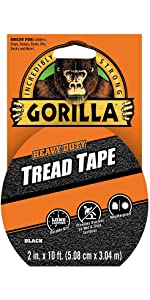 Gorilla Tread Tape black safety stairs steps boats slip fall trip