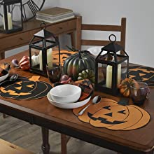 Elrene Home Fashions Pumpkin Placemats