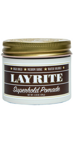 Superhold Pomade Wax Gel Matte Shine Gloss Hair Care Water soluble Clean Hold Salon Care Layright