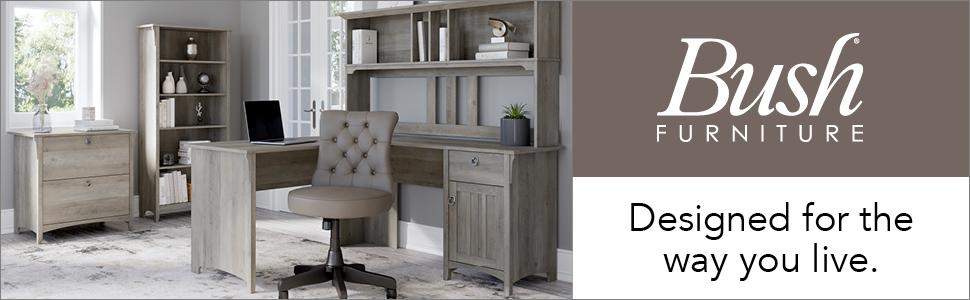 bush furniture,salinas,driftwood gray,casual,bush,bush industries