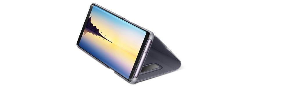 Samsung Note 8 Clear View Standing Cover - Funda para Samsung Galaxy Note 8, color negro- Version española