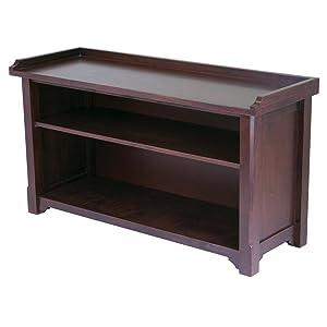 Storage hall bench  sc 1 st  Amazon.com & Amazon.com: Winsome Wood Storage Hall Bench: Kitchen u0026 Dining