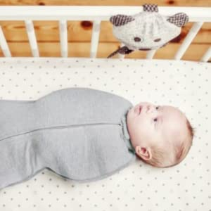 No more wrapping and re-wrapping swaddle blankets! Simply put the baby in, snap and zip!