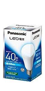パナソニック LED電球 口金直径26mm 電球40W形相当 昼光色相当(4.4W) 一般電球・下方向タイプ 1個入 密閉形器具対応 LDA4DHEW