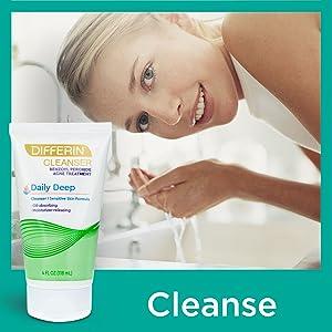 differin, face cleanser, face moisturizer, lotion, retinoid, differin gel, moisture, oil control