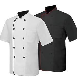 Chaquetas Chef Cocinero con Botón Reformado Marmintón Sollastre Guisandero Adobador Salsero