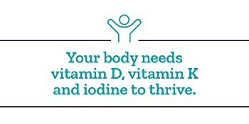 Your body needs vitamin D,  vitamin K and iodine to thrive.