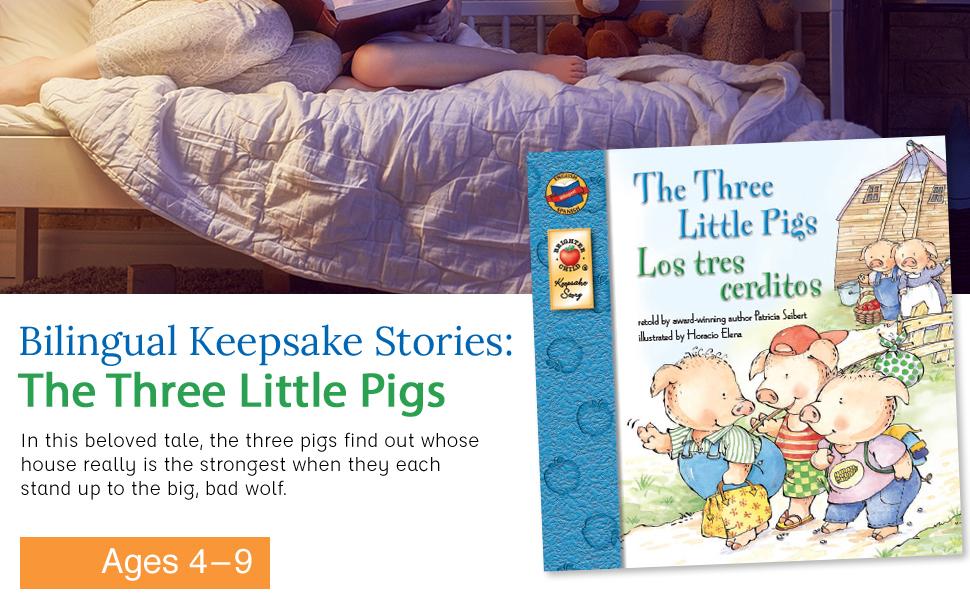 Bilingual Keepsake Story: 3 Little Pigs