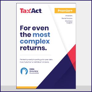 Amazon com: TaxAct Online 2018 Premier+ Federal Edition [PC Online