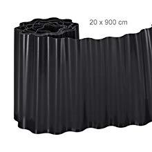 Relaxdays, Negro, Delimitador de jardín, Borde Flexible para césped, Plástico, 20 x 900 cm: Amazon.es: Jardín