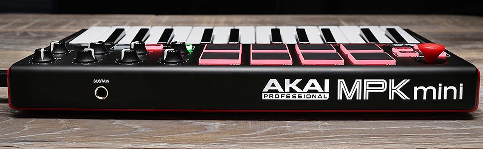 akai professional mpk mini mkii 25 key portable usb midi keyboard with 8 backlit. Black Bedroom Furniture Sets. Home Design Ideas