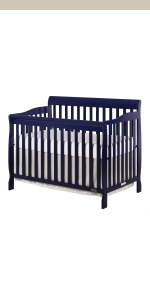 dream on me, cribs, full size, standard, 5 in 1 convertible, toddler bed, day bed, ashton