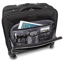 Cuatro ruedas giratorias para una estabilidad y maniobrabilidad sin esfuerzo hasta la cremallera con cierre para mayor seguridad, este maletín cuida mucho ...