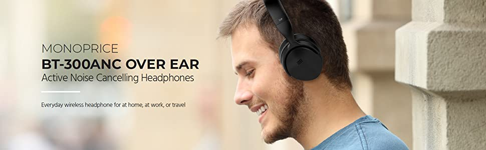 bbf511ff016 BT-300ANC Bluetooth Wireless Over Ear Headphones with Active Noise  Cancelling