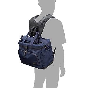 ショルダーバッグに装着することで、リュックのように快適に背負うことのできるリュックベルトです。