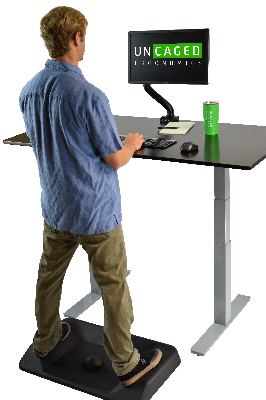 Amazoncom Uncaged Ergonomics ASM b Active Standing Anti Fatigue Mat Thick Contoured