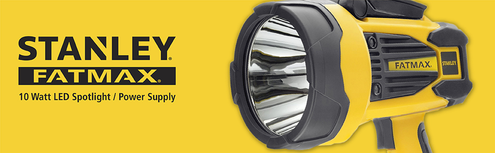 Stanley FATMAX 10 watt LED spotlight and power supply