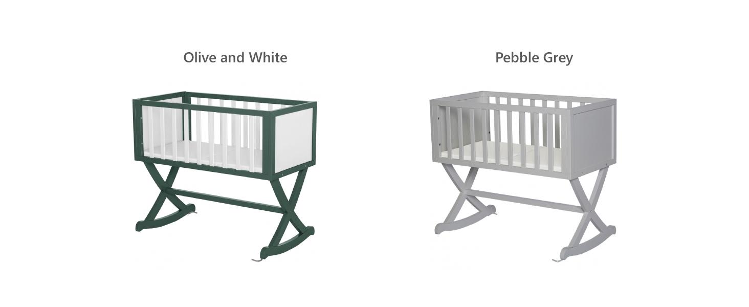 olive cradle, grey cradle, gray cradle, natural cradle,brown cradle,gender neutral cradle,boy cradle