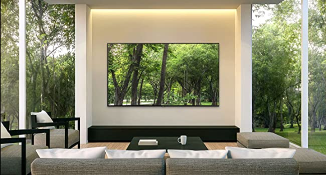 QLED with image of the trees outside