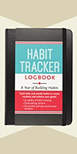 Habit Tracker Logbook (with removable cover band for privacy)