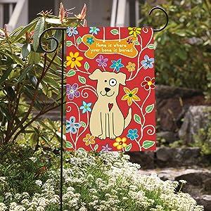 Amazon.com: Toland Home Garden perro hueso Bandera: Jardín y ...