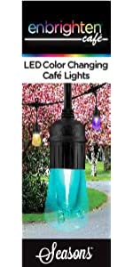 Amazon enbrighten vintage seasons led warm white color colorchanging colors theme black string lights outdoor mozeypictures Gallery