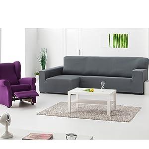 Martina Home Tunez - Funda elástica para sofá, Negro, 3 Plazas (180-240 cm)