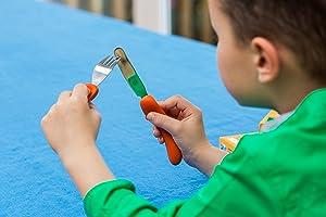 ergonomic training cutlery for kids