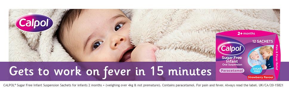 Calpol Sugar Free Infant Suspension Paracetamol Sachets