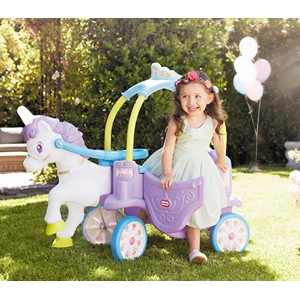 little tikes magical unicorn carriage ride on;unicorn ride in;unicorn with lights