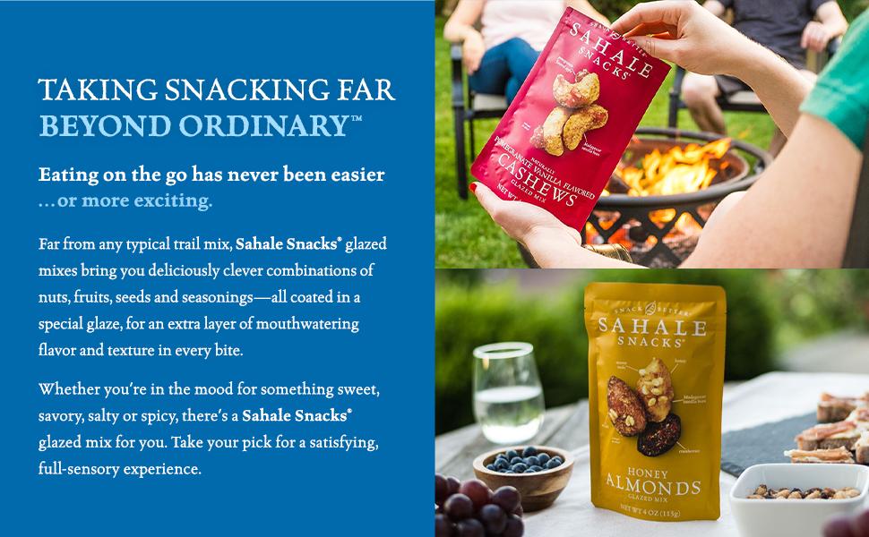 Sahale Snacks Glazed Nut Mixes - Energy, plant based protein snacks far beyond ordinary