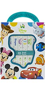 Disney Baby My First Library Board Book Block 12-Book Set