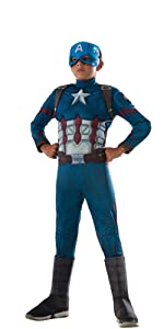 childs deluxe muscle chest captain america