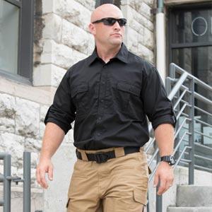 Man in Kinetic leaving building