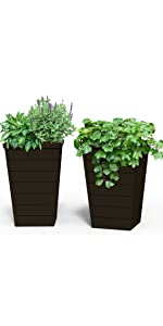 keter tapered planter tall garden bed