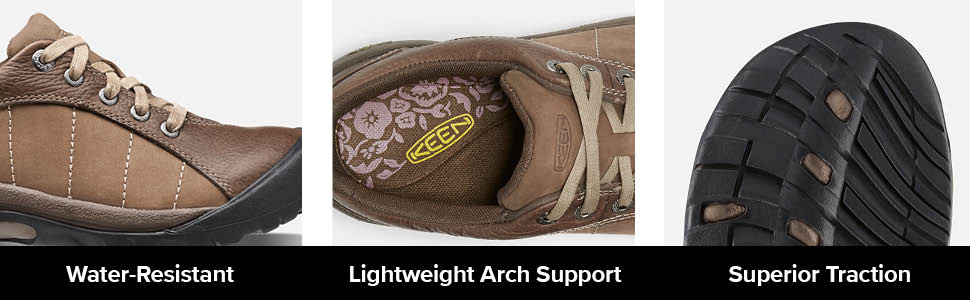keen womens presidio casual lifestyle sneaker shoe tech water resistant lightweigth arch support