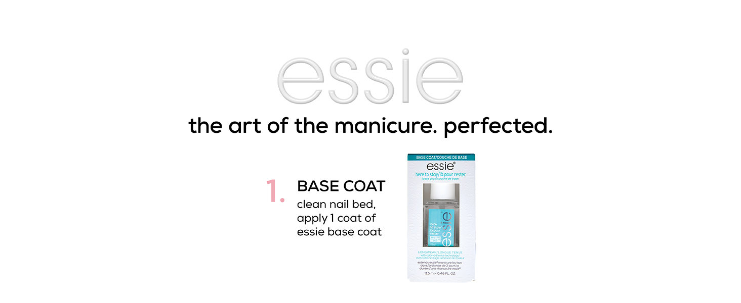 how to do a manicure, at-home manicure, essie nail polish, essie nail color, essie nail base coat