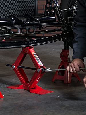 Torin Big Red Steel Scissor Lift Jack Car Kit, 1.5 Ton (3,000 lb) Capacity