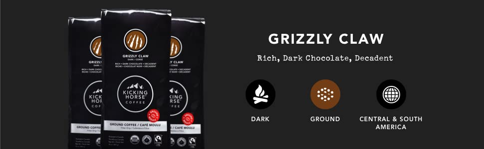 Kicking Horse Coffee Grizzly Claw Ground