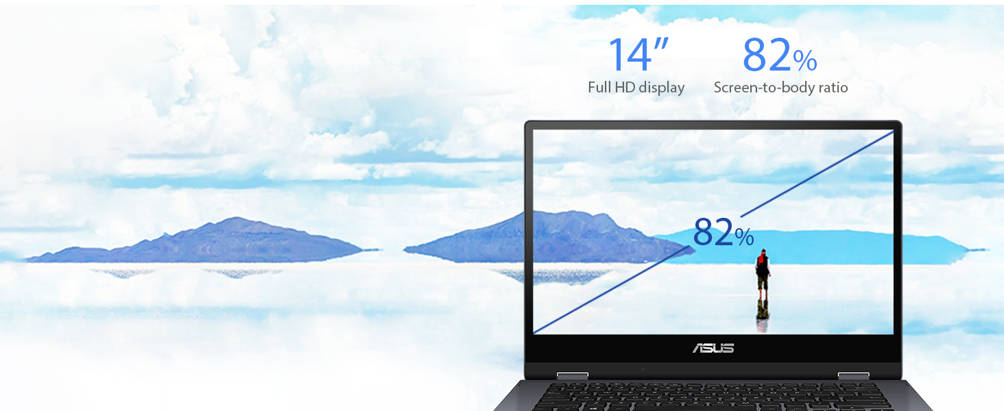 "ASUS Vivobook Flip 14 Thin and Light 2-in-1 Touchscreen Laptop 128GB SSD TP412UA-DB21T Windows 10 in S Mode Intel Pentium Gold 4415U Processor 4GB DDR4 RAM Fingerprint Reader 14/"" Full HD"
