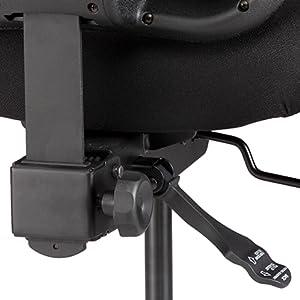 closeup view of the Vue task chair's reinforced tilt mechanism