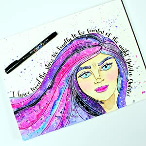 Fudenosuke Brush Pens are a must-have tool for creating art drawings with its unique brush tip