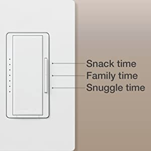 Lutron C.L Dimmers provide over 250 lighting levels, so you can create the perfect light for all your family gatherings