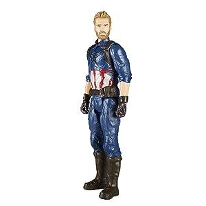 Boneco Capitão América de uniforme