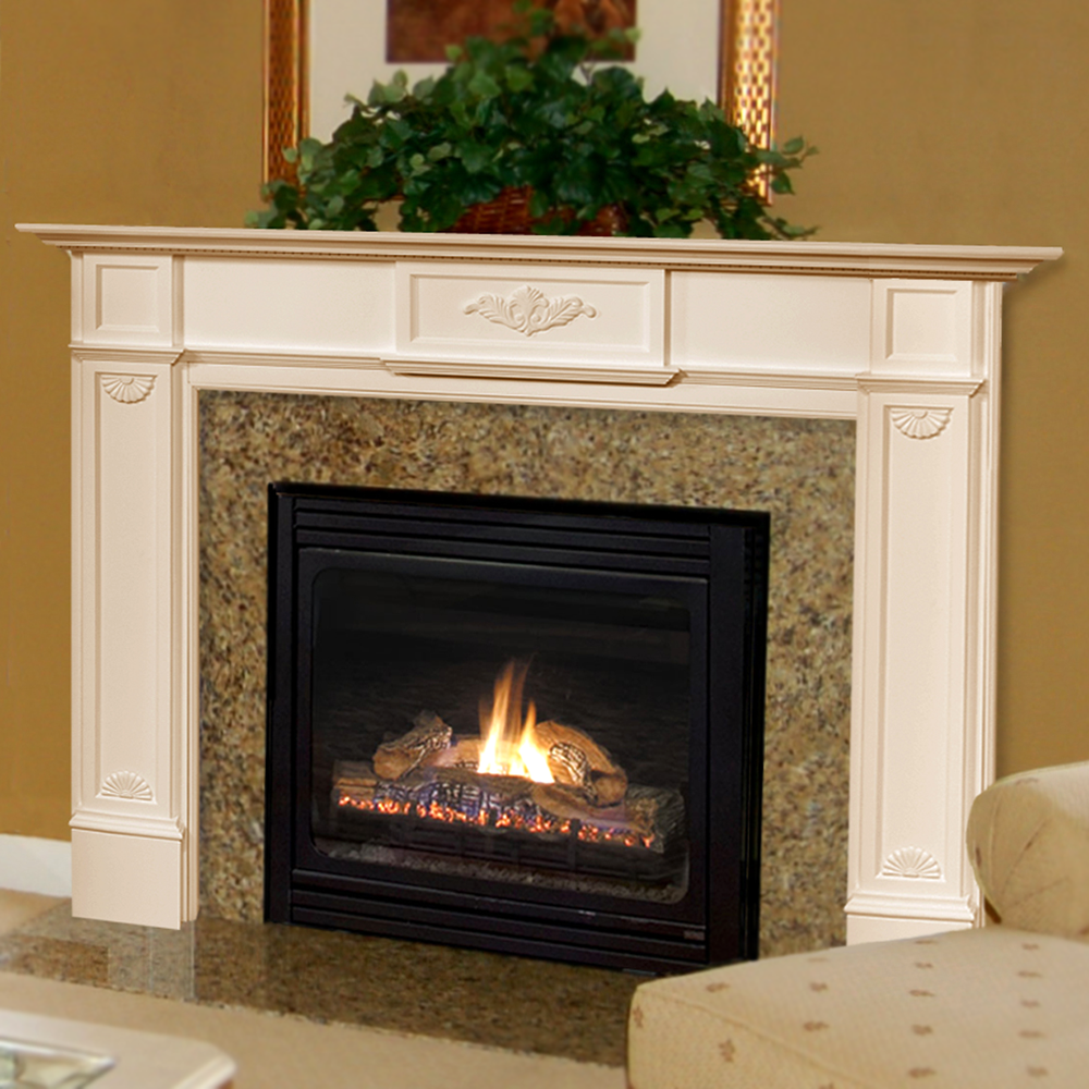 Pearl mantels 418 60 homestead mantel shelf 60 for Design your own fireplace