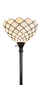 Tiffany Floor Lamp Torchiere Standing Stained Glass Antique Vintage Light Decor Bedroom Living Room