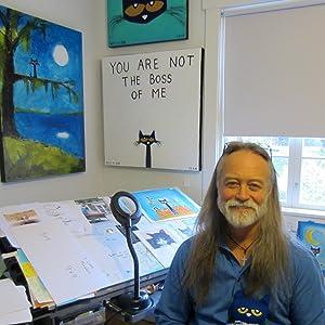 james dean;james dean artist;pete the cat;blue cat;picture book;cat art;blue cat;preschool
