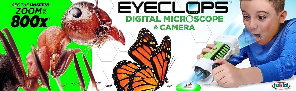 EyeClops Digital Microscope /& Camera in one! STEM Zoom 800X